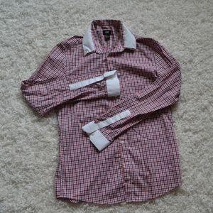 Metro H&M White Cuff & Collar Button up